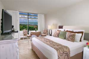 Sunset View Room with King Size bed and beautiful view at Grand Oasis Hotel Cancun